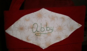 Christmas stocking name tag