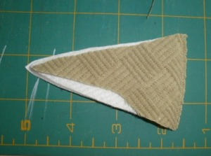 wedge from fabric vase