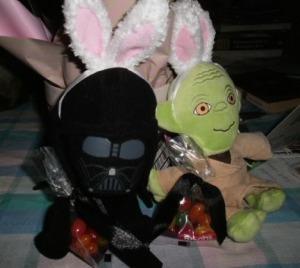 darth vadar and yoda with bunny ears