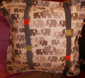 Lani Longshore elephant pillow