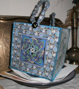 Lani Longshore celtic box tote