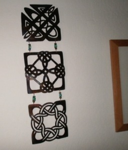 Celtic knots in brass