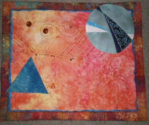 Mars Via California - my roadtrip quilt