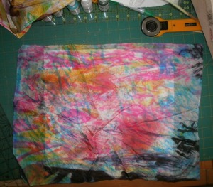 Experiment with dye