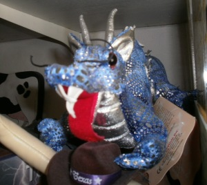blue soft toy dragon