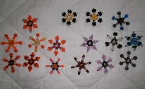 Lani Longshore bead snowflakes