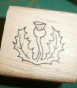 Lani Longshore thistle stamp