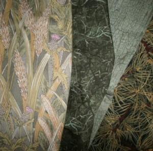 Lani Longshore green fabrics