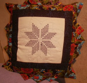 Lani Longshore embroidered pillow