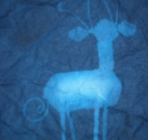 My Christmas reindeer in blue