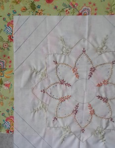 The fabric is from a series of spring quilts