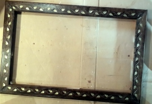 The frame is made from stock molding