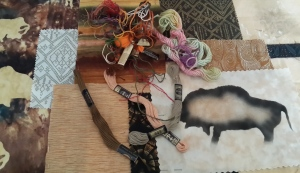 Lani Longshore buffalo collage detail