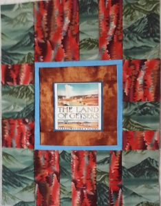 Lani Longshore red-green art quilt