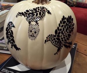 Lani Longshore pumpkin with crows